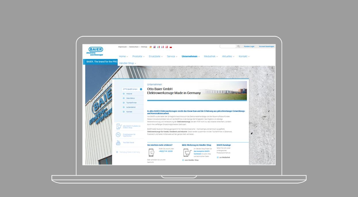 Baier Tools Webdesign