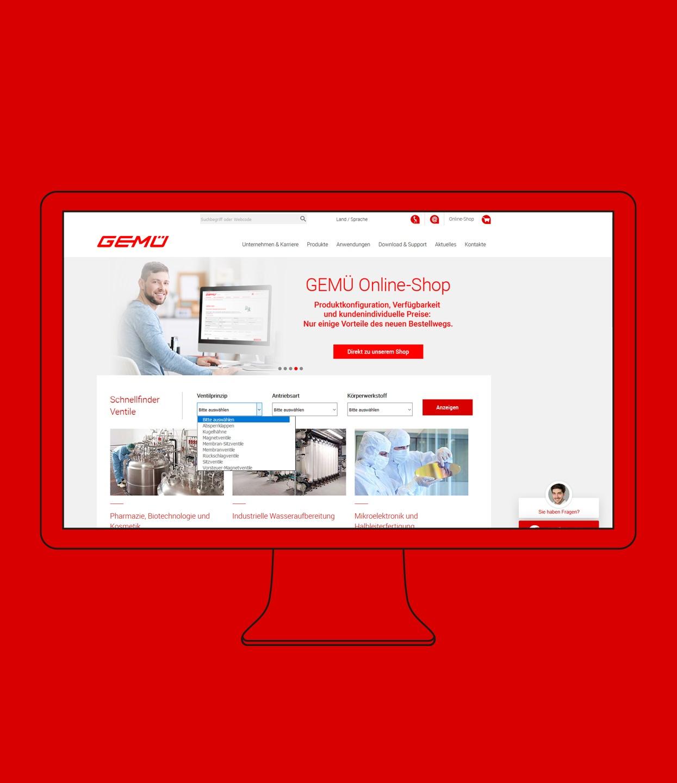 GEMÜ Webdesign