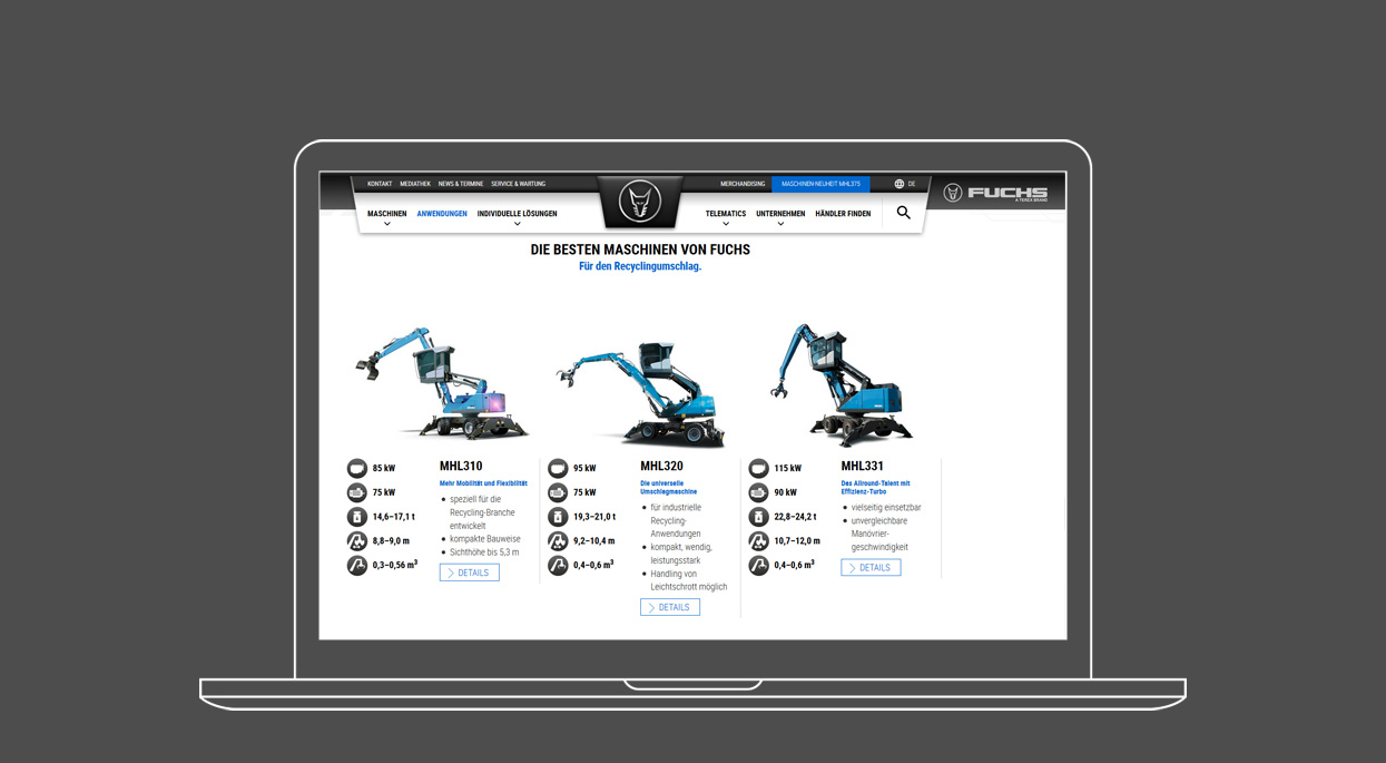 Terex Webdesign